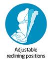 Maxi-Cosi Adjustable Reclining positions